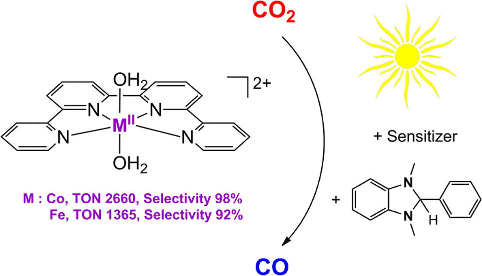 Highly Efficient and Selective Photocatalytic CO2 Reduction by Iron and Cobalt Quaterpyridine Complexes