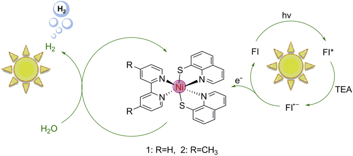 Highly Efficient Photocatalytic Hydrogen Evolution from Nickel Quinolinethiolate Complexes under Visible Light Irradiation